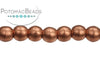 Czech Round - Vintage Copper 3mm