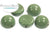 Dome Bead - Hartford Green 10x6mm
