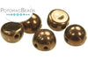 CzechMates 7mm 2-Hole Cabochon - Dark Bronze