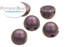 CzechMates 7mm 2-Hole Cabochon - Purple Metallic Suede