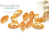 Cali Bead - White Medium Apricot