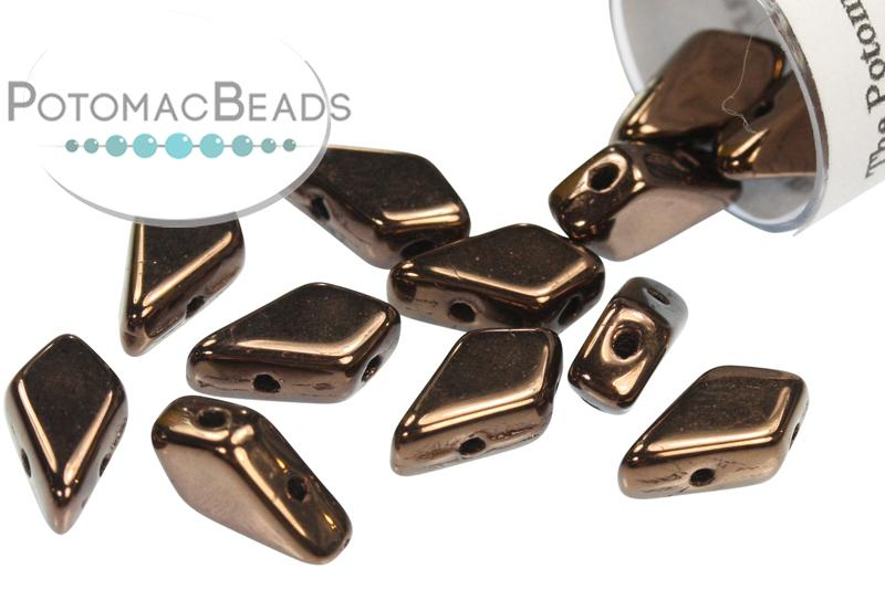 Kite Bead - Jet Bronze (Dark Bronze)