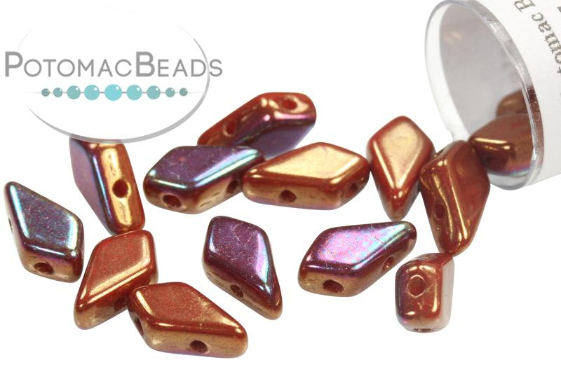 Kite Bead - Ruby Iris Luster (Red Iris Luster)