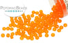 Miyuki Seed Beads - Matte Transparent Orange 11/0