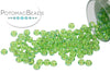 Miyuki Seed Beads - Transparent Apple Green AB 11/0
