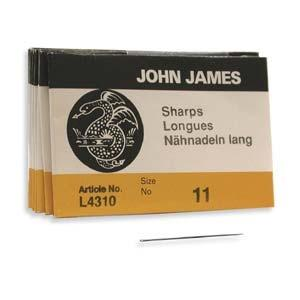 John James Needles Sharp Size 11 - PotomacBeads.eu