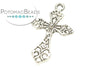 Pewter (Silver) Pendant - Filigree Cross #2