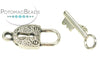 Pewter (Silver) Toggle - Lock & Key