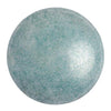 Cabochon par Puca® - White Baby Blue Luster (Opaque Blue Ceramic Look) 25mm