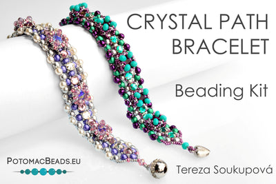 Beading Kit - Crystal Path Bracelet (Fuchsia Emerald Colorway)