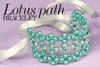 Beading Kit - Lotus Path Bracelet (Metallic Emerald/Silver Colourway)