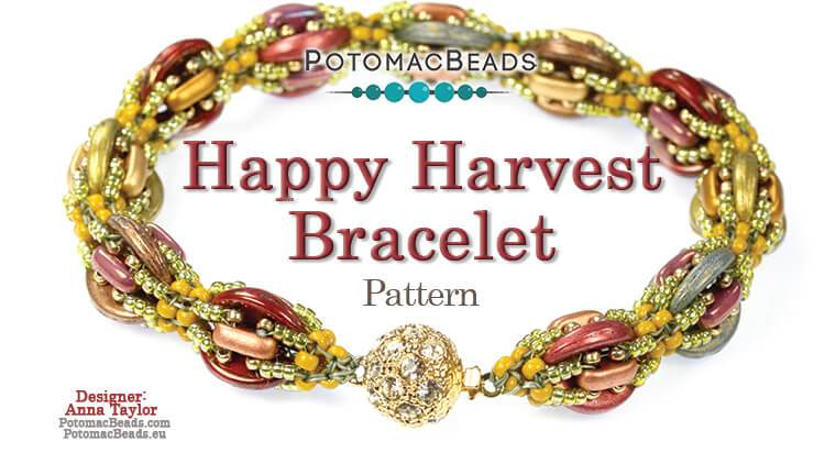 Beadweaving 1250 - Happy Harvest Bracelet Pattern