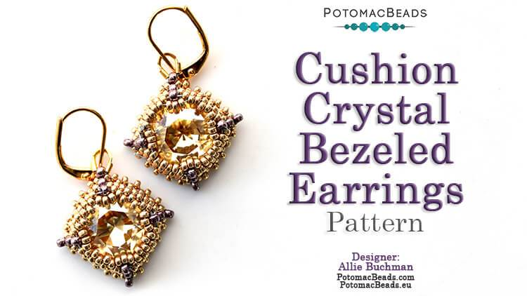 Cushion Crystal Earrings Pattern