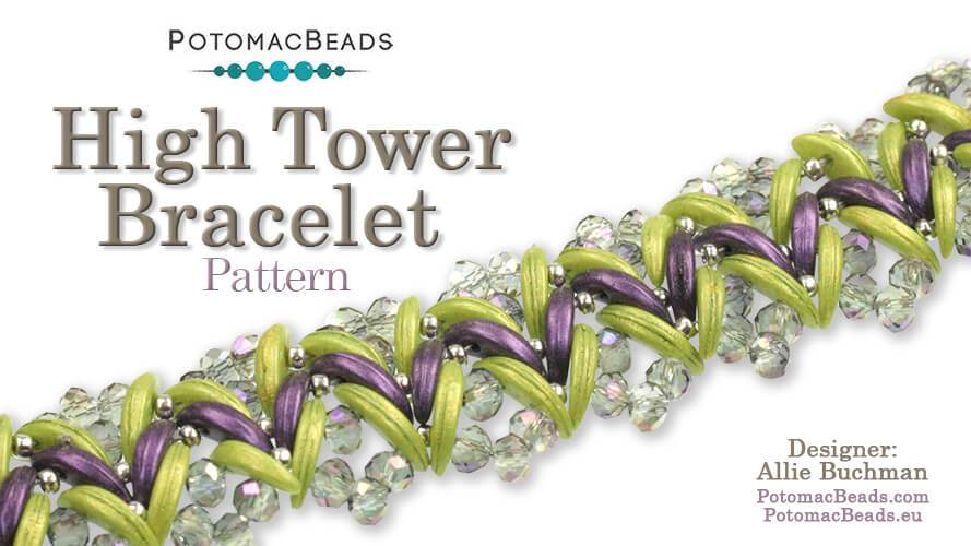 Beadweaving 885 - High Tower Bracelet Pattern by Allie Buchman