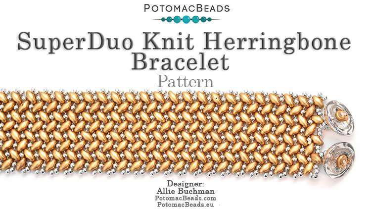 Seed Beading 399 - SuperDuo Knit Herringbone Pattern