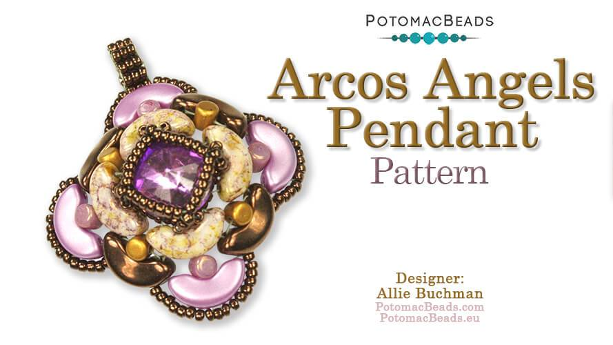 Beadweaving 1115 - Arcos Angels Pendant Pattern by Allie Buchman
