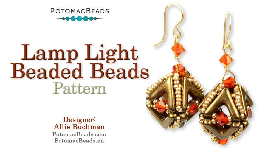 Beadweaving 1131 -  Lamp Light Beaded Beads Pattern by Allie Buchman