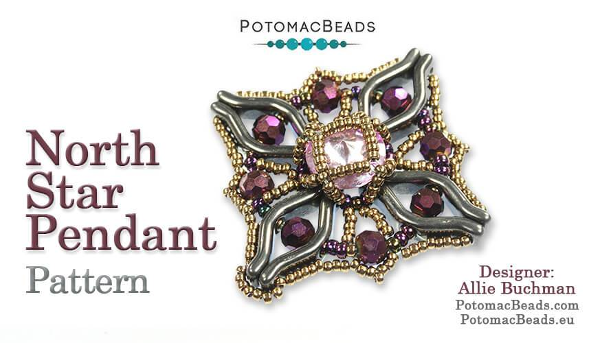 Beadweaving 1259 - North Star Pendant Pattern