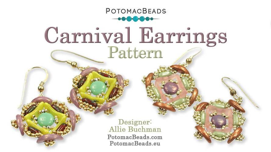 Beadweaving 892 - Carnival Earrings Pattern