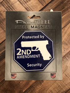 Protected by 2nd Amendment Security Magnet