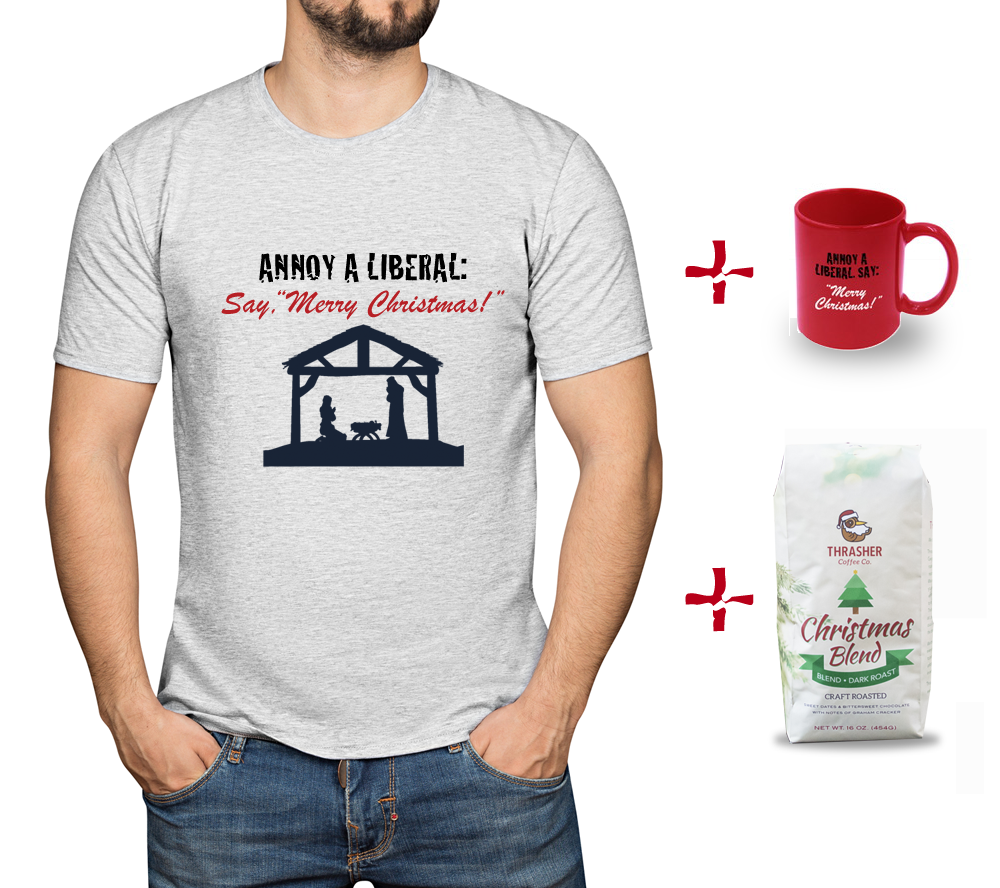"Annoy A Liberal: Say ""Merry Christmas"" Bundle (MADE IN USA)"