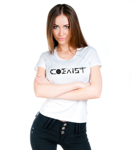 """COEXIST"" Women's Pro Gun T-Shirt (MADE IN THE USA)"