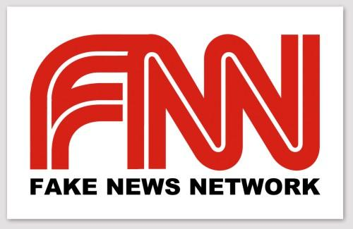 FNN Fake News Network Bumper Sticker (MADE IN THE USA)