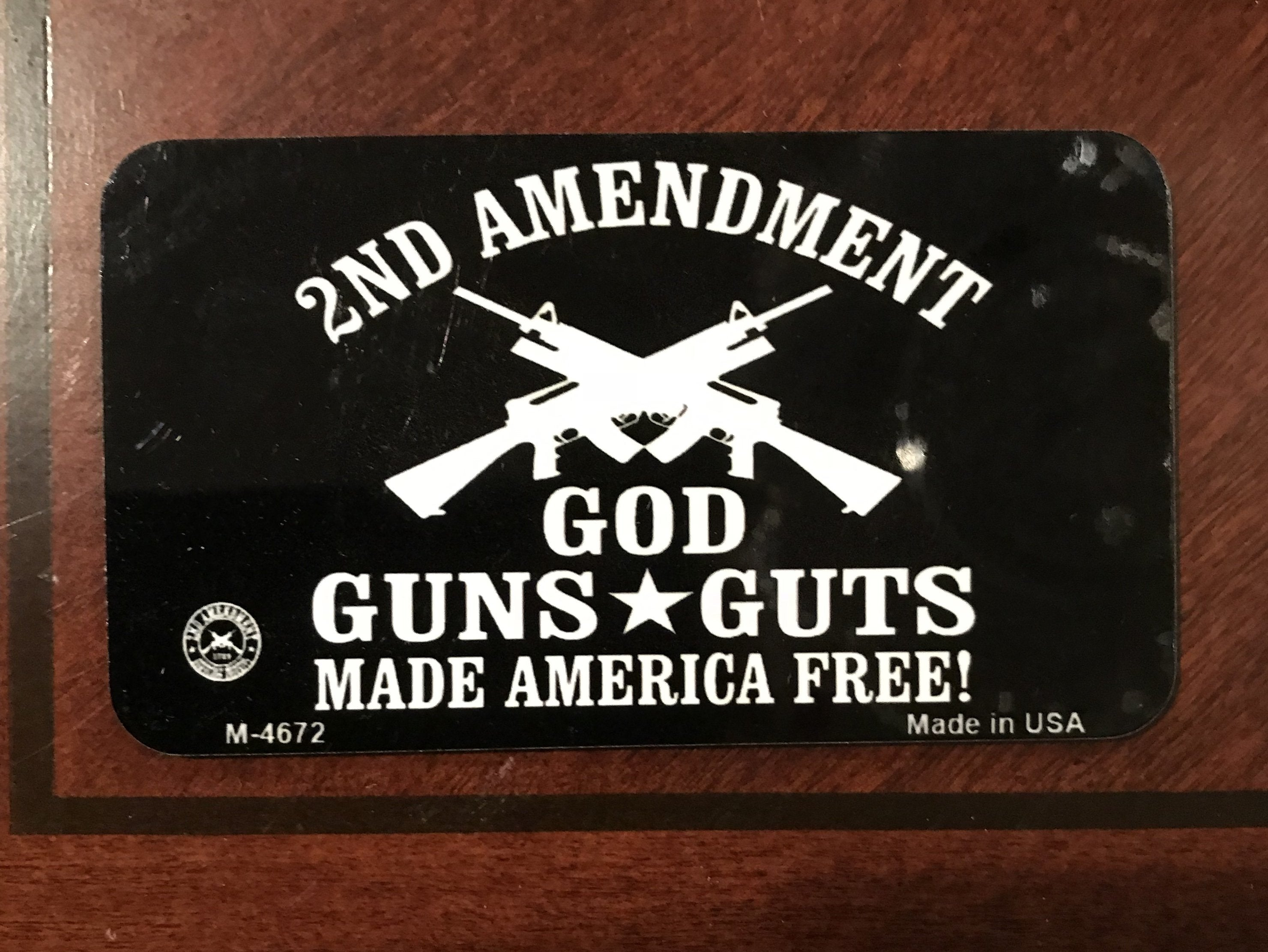 God Guns & Guts Magnet