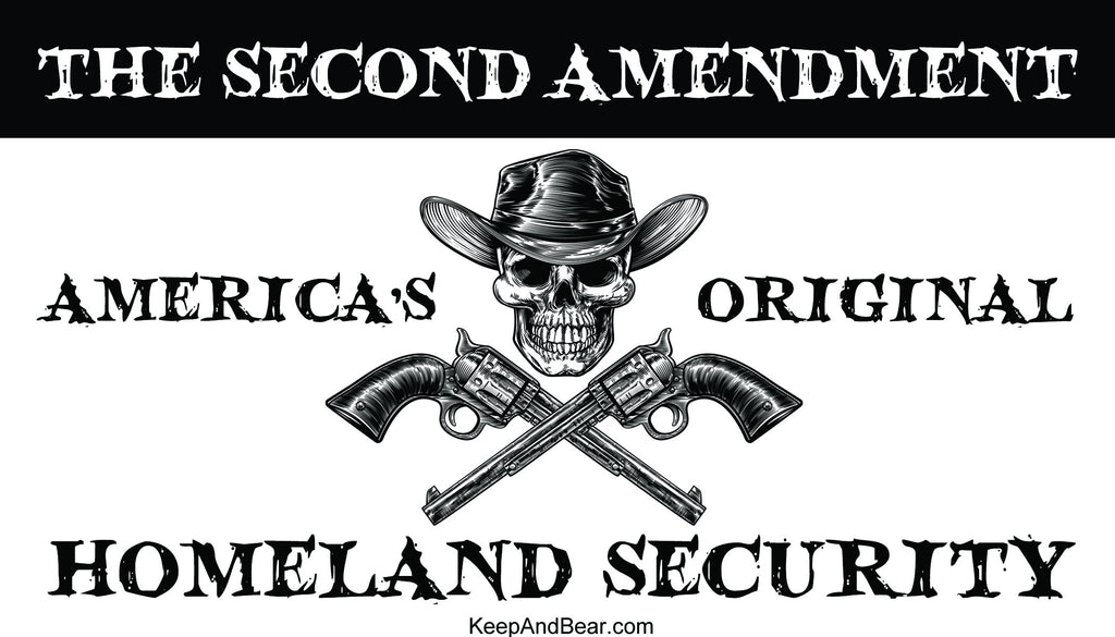 America's Original Homeland Security Bumper Sticker (MADE IN THE USA)