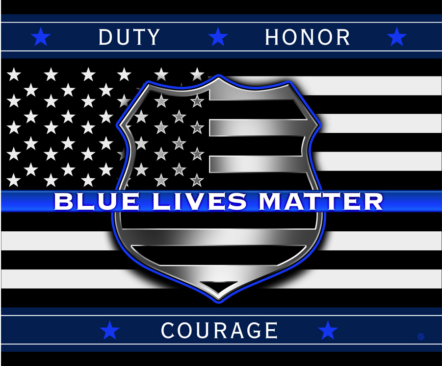 Blue Lives Matter Fleece Throw Blanket
