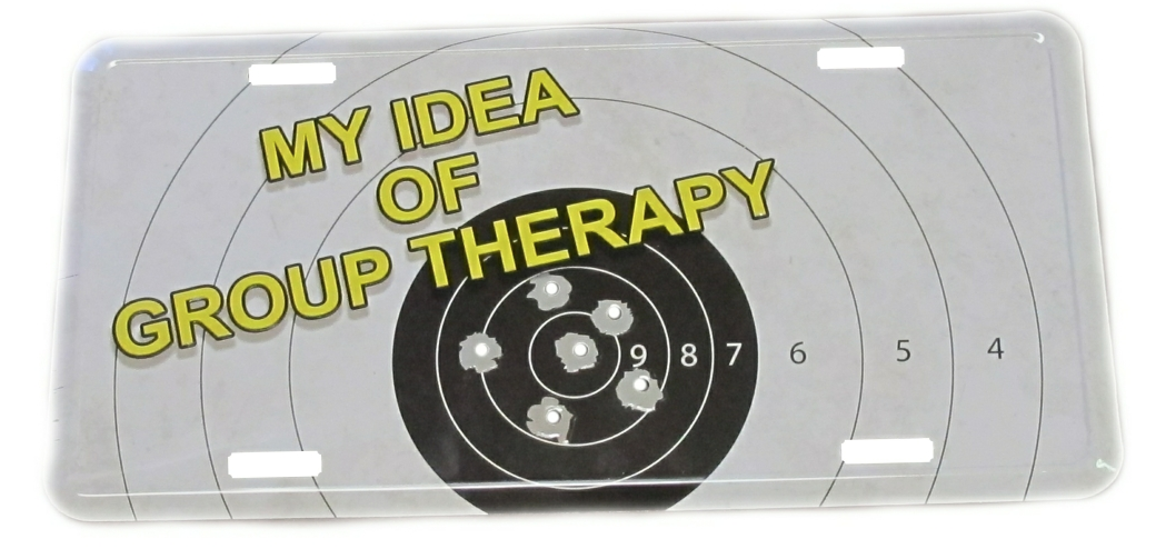 Group Therapy License Plate