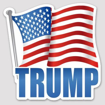 Trump American Flag Sticker