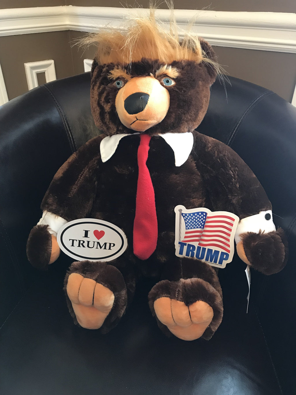 Trumpy Bear + 2 Free Trump Bumper Stickers!