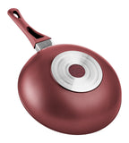 Titanium Nonstick 11-Inch Wok Pan (Red)