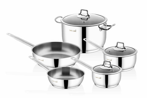 Saflon Stainless Steel 8 Piece Cookware Set