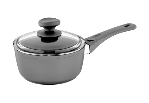Titanium Nonstick 3-Qt Sauce Pan with Tempered Glass Lid