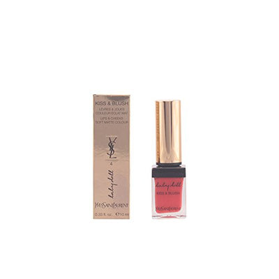 YSL/KISS & BLUSH LIP & CHEEK COLOR LIQUID #4 ORANGE FOUGUEUX 0.33 OZ (10 ML)