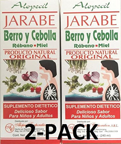 Jarabe Berro y Cebolla Rabano-Miel 8 Oz. 2-PACK Watercress and Onion Radish-Honey Syrup (2)