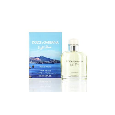 LIGHT BLUE DISCOVER VULCANO D&G EDT SPRAY LIMITED EDITION 4.2 OZ FOR MAN