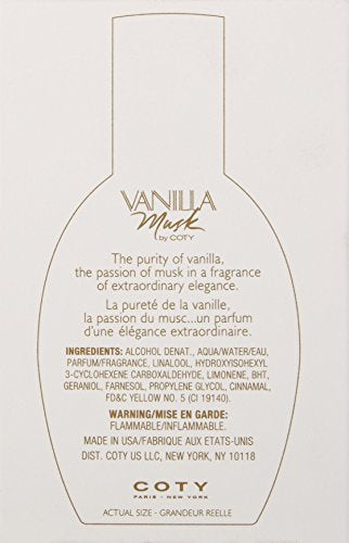 VANILLA MUSK COTY COLOGNE SPRAY 1.0 OZ FOR WOMEN