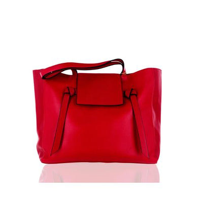 ELIZABETH ARDEN TOTE BAG (RED LEATHER)
