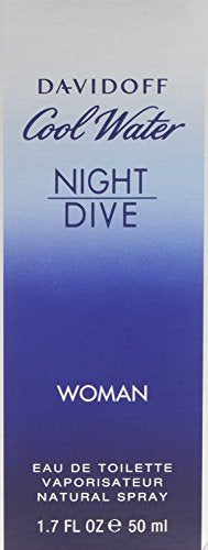 COOLWATER NIGHT DIVE DAVIDOFF EDT SPRAY 1.7 OZ (50 ML) (W)