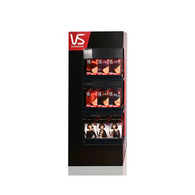 VIDAL SASSOON PRO SERIES AND SALONIST FLOOR STAND  21 UNITS