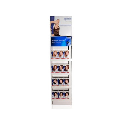 "CLAIROL 18PC NICE 'N EASY ROOT TOUCH UP FLOOR STAND DISPLAY 48"" 18 UNITS"