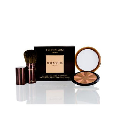 GUERLAIN TERRACOTTA LIGHT HEALTHY GLOW POWDER NATURAL WARM & BRUSH