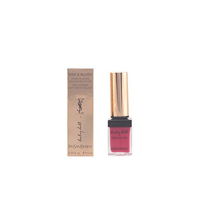 YSL/KISS & BLUSH LIP & CHEEK COLOR LIQUID #1 FUCHSIA DESINVOLTE 0.33 OZ (10 ML)