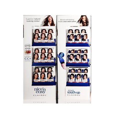 "CLAIROL NICE 'N EASY + ROOT TOUCH UP IN 48"" FLOOR STAND DISPLAY 36 UNITS"