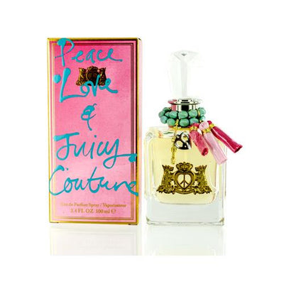 PEACE LOVE & JUICY/JUICY COUTURE EDP SPRAY 3.4 OZ (100 ML) (W)