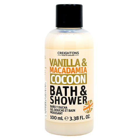 Creightons Vanilla & Macadamia Cocoon Bath & Shower Travel Size 100ml