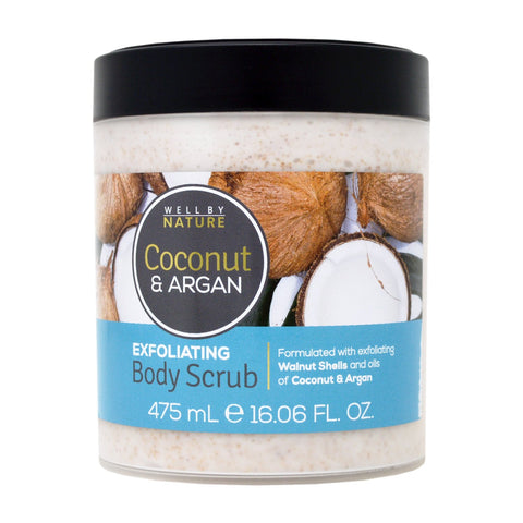 Well By Nature Coconut & Argan Exfoliating Body Scrub 475ml